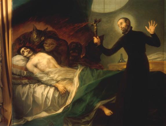 F.de Goya / Francis of Borgia, deathbed